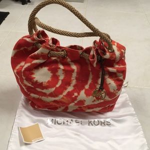 NWOT Michael Kors Tie-Dye Slouch Canvas Bag